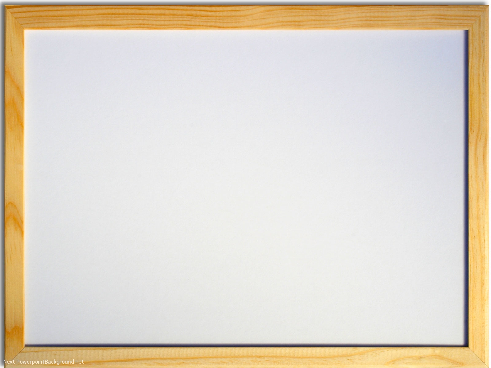 white board with wood frame powerpoint background � next